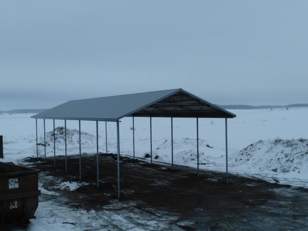 A-Frame Steel Carport - St. Jaques, Quebec