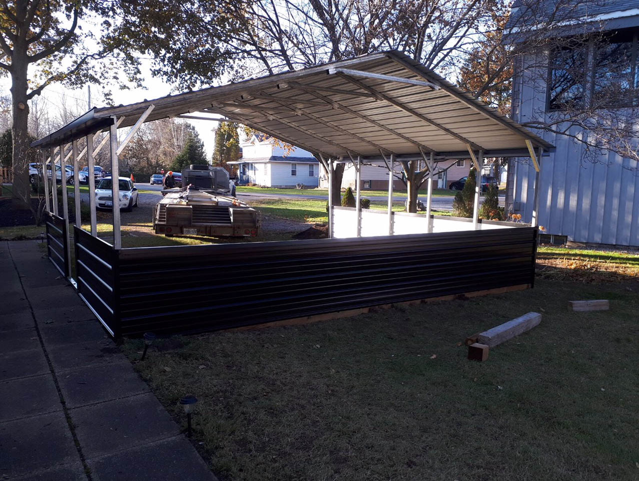 A-Frame Style Steel Carport - Port Dover, Ontario