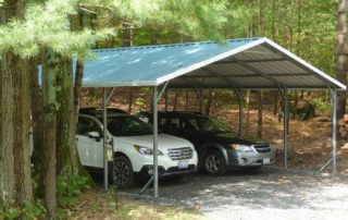 A-Frame Style Steel Carport - Utterson, Ontario