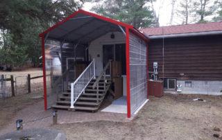 A-Frame Style Steel Shelter - Bolsover Ontario