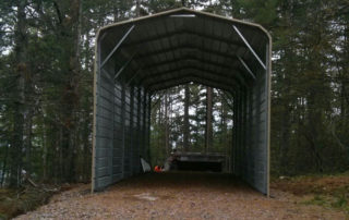 Standard Style Steel Carport - French River, Ontario