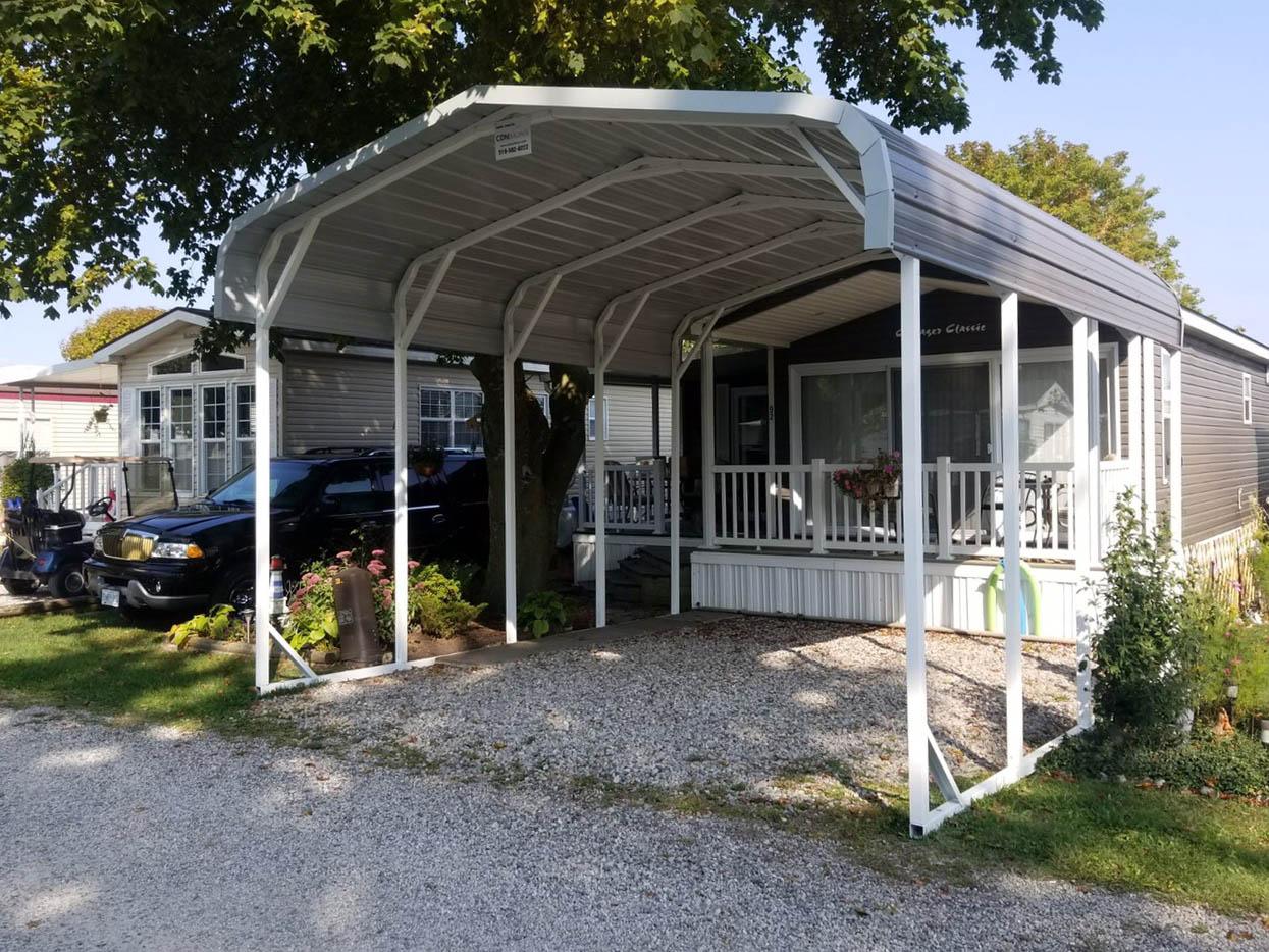 Standard Style Steel Carport - Mount Elgin, Ontario