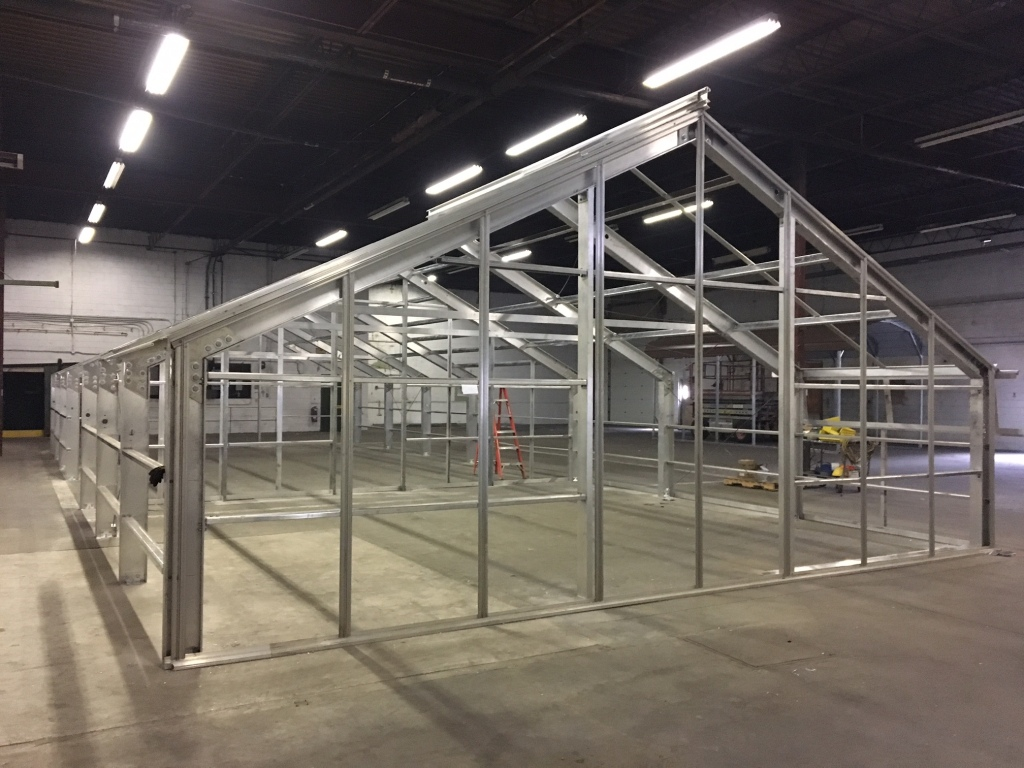Steel Greenhouse Frame in Frederick Maryland, USA