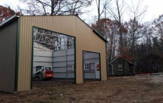 Steel Pole Barn in Burford Ontario