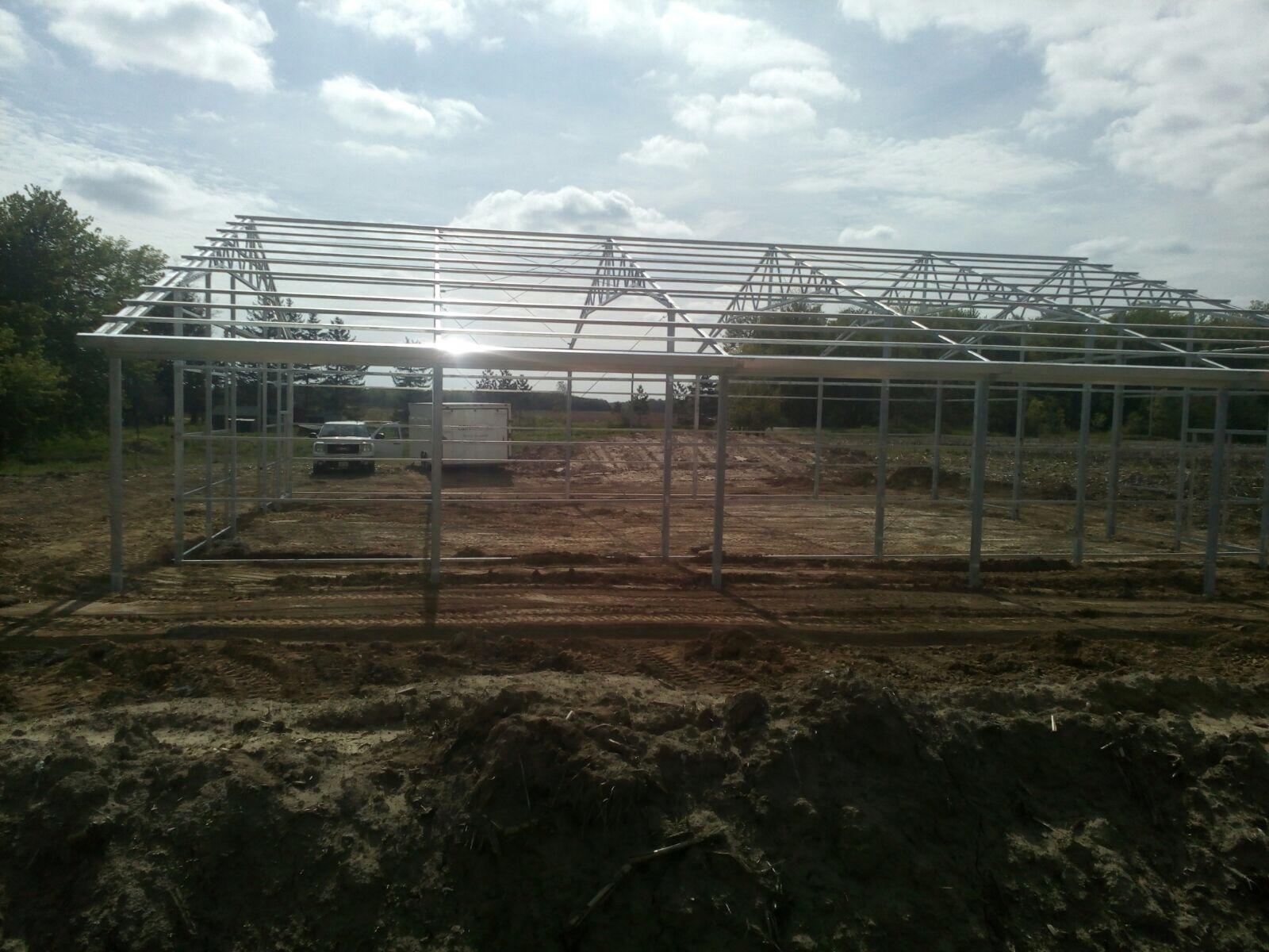 Steel Pole Barn In Wilsonville Ontario Cdn Buildings