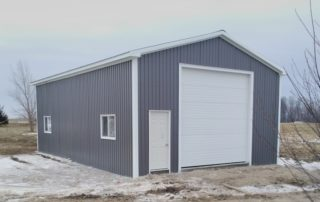 Steel Pole Barn in Woodham, Ontario