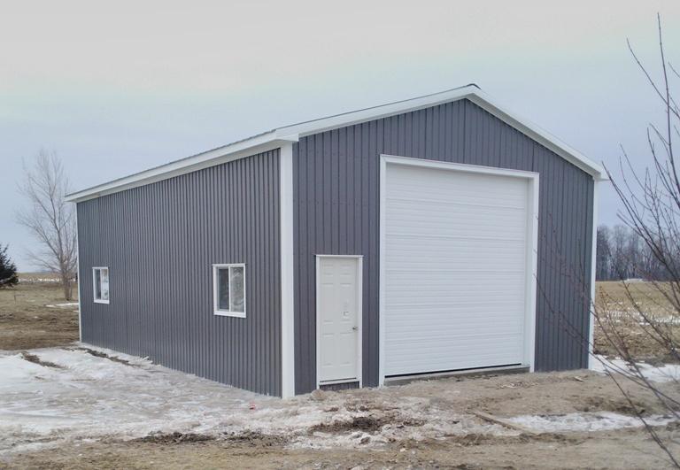 Steel Pole Barn in Woodham, Ontario